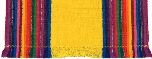 Table linens Yellow Stripe