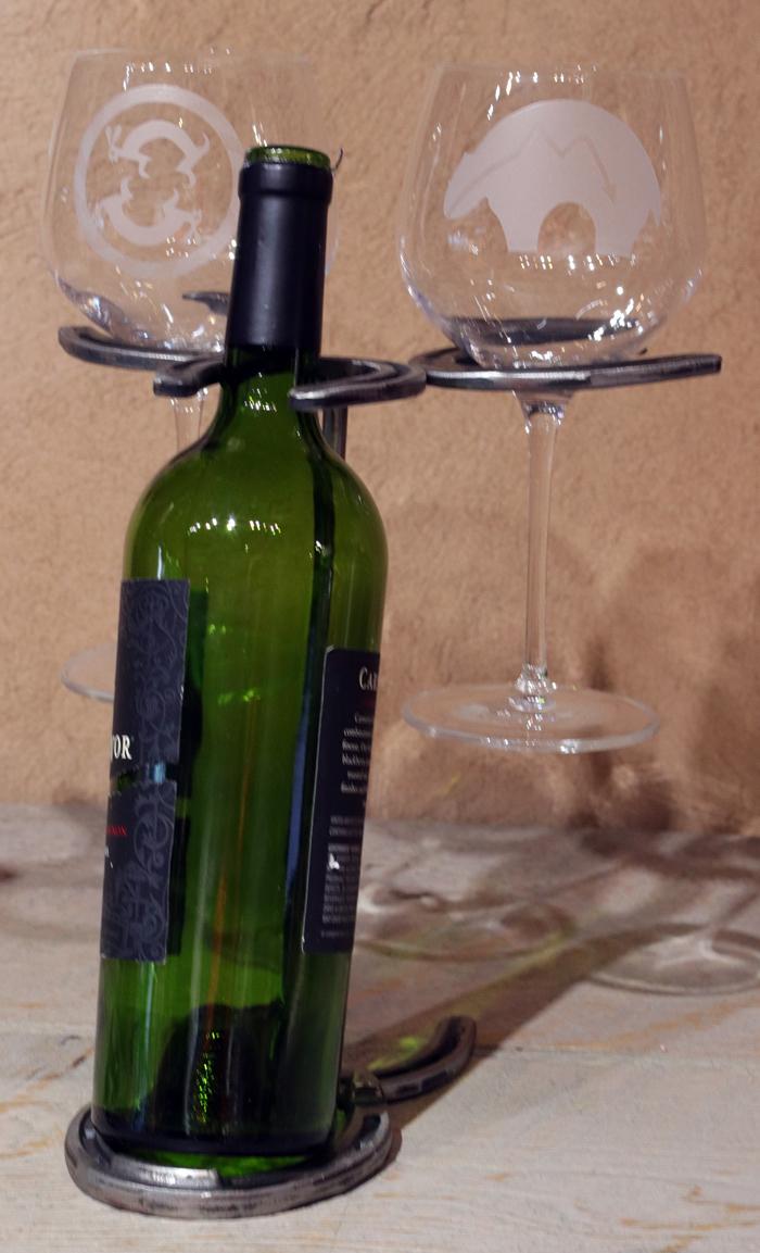 wine bottle glasses holder. Black Bedroom Furniture Sets. Home Design Ideas